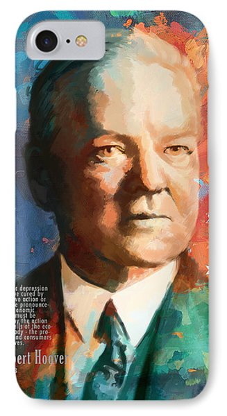 Herbert Hoover IPhone Case by Corporate Art Task Force