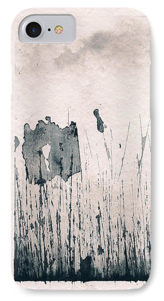 IPhone Case featuring the painting Herbes Souillees by Marc Philippe Joly