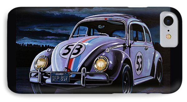 Herbie The Love Bug Painting IPhone Case by Paul Meijering