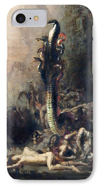 Hercules And The Lernaean Hydra, After Gustave Moreau, C.1876 Oil On Canvas Detail Of 226576 IPhone Case by Narcisse Berchere