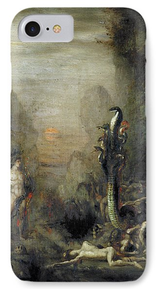 Hercules And The Lernaean Hydra, After Gustave Moreau, C.1876 Oil On Canvas IPhone Case by Narcisse Berchere