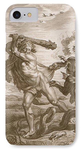 Hercules Fights The Lernian Hydra IPhone Case by Bernard Picart