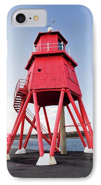 Herd Groyne Lighthouse IPhone Case by Ashley Cooper