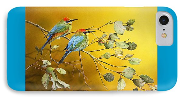 Here Comes The Sun - Rainbow Bee-eaters IPhone Case by Frances McMahon