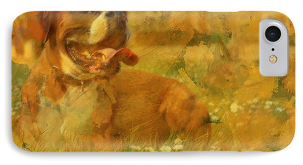 Here Doggie IPhone Case by Barbara R MacPhail