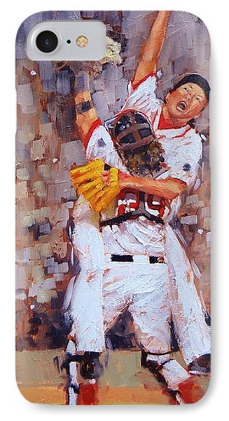 Baseball Gloves iPhone 7 Case - Here We Come by Laura Lee Zanghetti