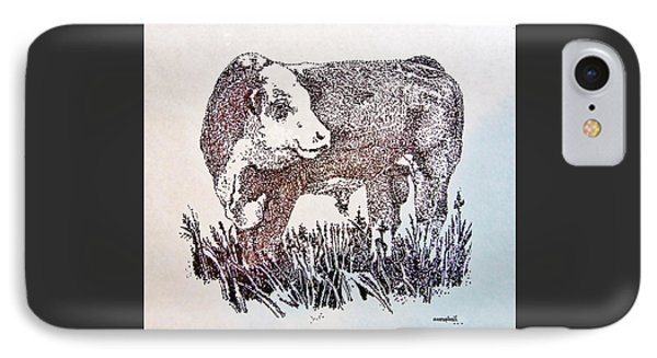 Polled Hereford Bull  IPhone Case by Larry Campbell