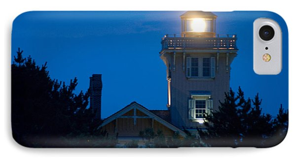 Hereford Inlet Lighthouse At Dusk IPhone Case by Greg Graham
