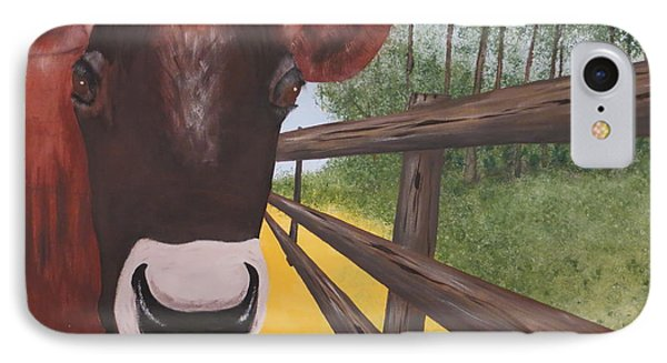 Here's Looking At Moo IPhone Case by Tim Townsend