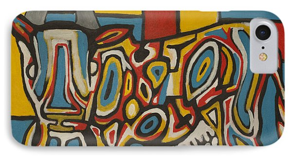 Haring's Cow IPhone Case by Jose Rojas