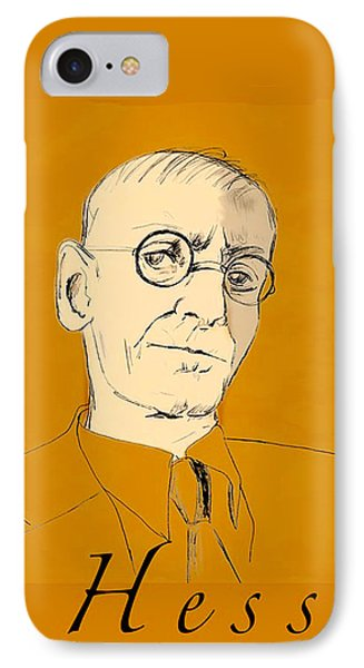 IPhone Case featuring the digital art Herman Hesse by Asok Mukhopadhyay