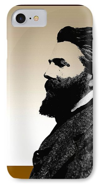 IPhone Case featuring the digital art Herman Melville by Asok Mukhopadhyay