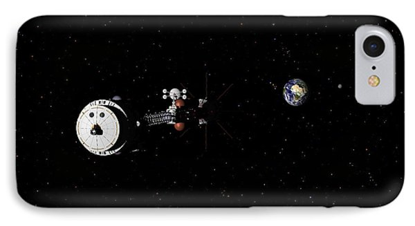 Hermes1 Leaving Earth Part 2 IPhone Case by David Robinson