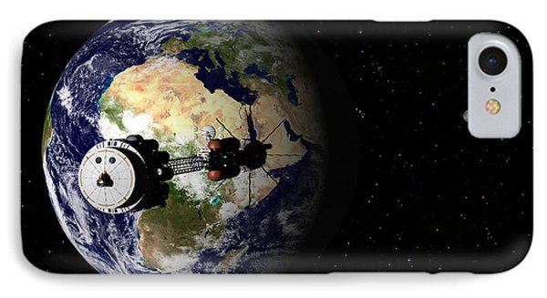 Hermes1 Leaving Earth Part 1 IPhone Case by David Robinson
