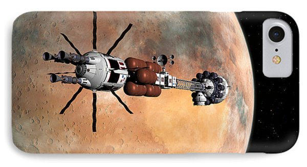 IPhone Case featuring the digital art Hermes1 Mars Insertion Part 1 by David Robinson