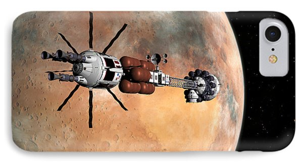 Hermes1 Mars Insertion Part 1 IPhone Case by David Robinson