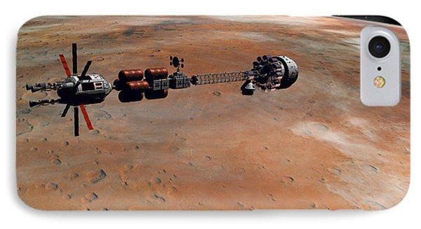 Hermes1 Orbiting Mars IPhone Case by David Robinson