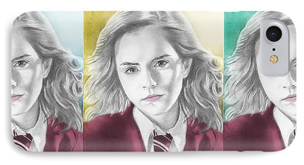 Hermione Granger - 3up One Print IPhone Case by Alexander Gilbert