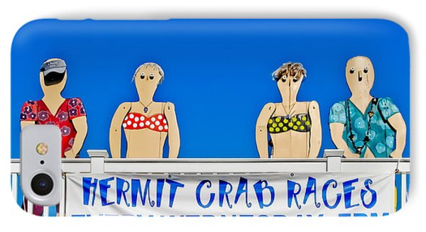 Hermit Crab Race IPhone Case by Colleen Kammerer