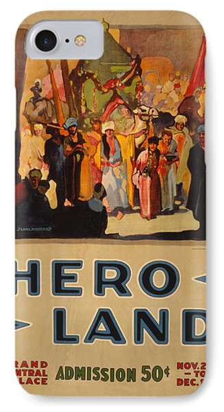Hero Land Poster IPhone Case by Underwood Archives