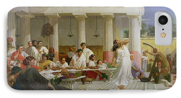 Herods Birthday Feast, 1868 Oil On Canvas IPhone Case by Edward Armitage