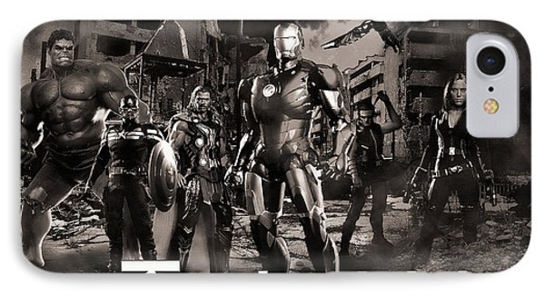 Heroes Bw IPhone Case by Christian Colman