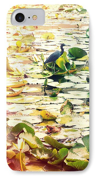 Heron Among Lillies Photography Light Leaks IPhone Case