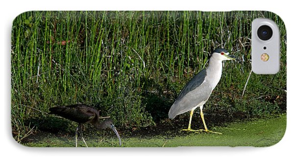Heron And Ibis IPhone 7 Case by Mark Newman
