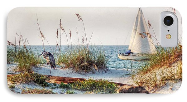 Heron And Sailboat IPhone Case by Michael Thomas