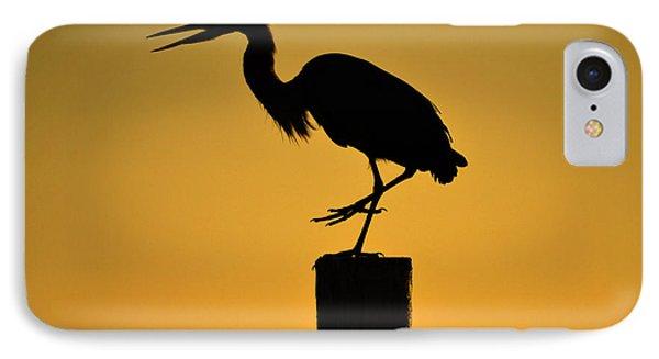 Heron At Sunrise IPhone Case by Leticia Latocki