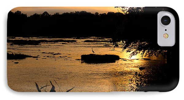 IPhone Case featuring the photograph Heron At Sunset by Andy Lawless