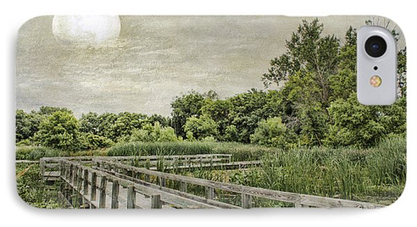 Heron Haven Boardwalk IPhone Case by Jeff Swanson