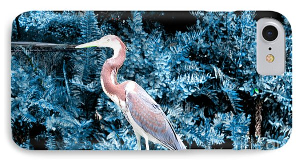 Heron In Blue IPhone Case