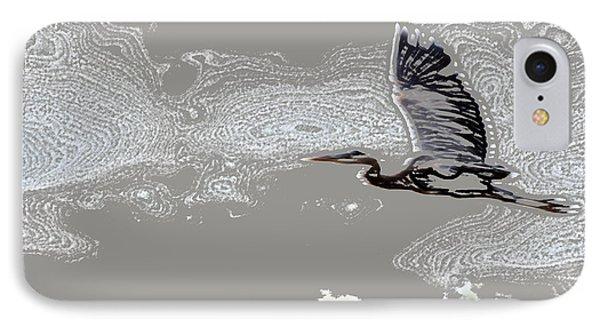 Heron In Flight IPhone Case by Kathleen Stephens