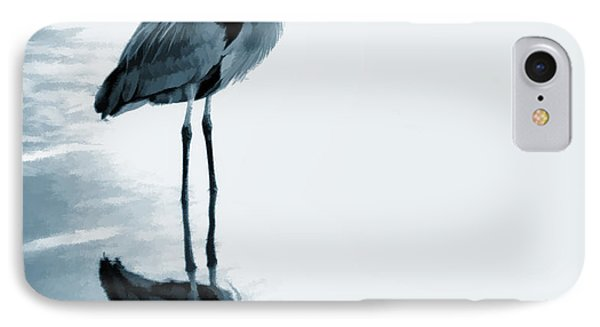 Heron In The Shallows IPhone Case by Carol Leigh