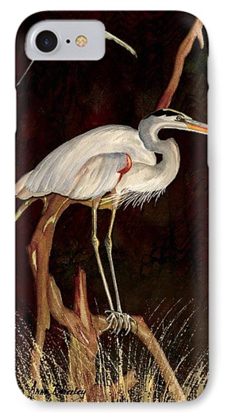 Heron In Tree IPhone Case by Anne Beverley-Stamps