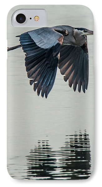 Heron On The Wing IPhone Case by Bill Roberts