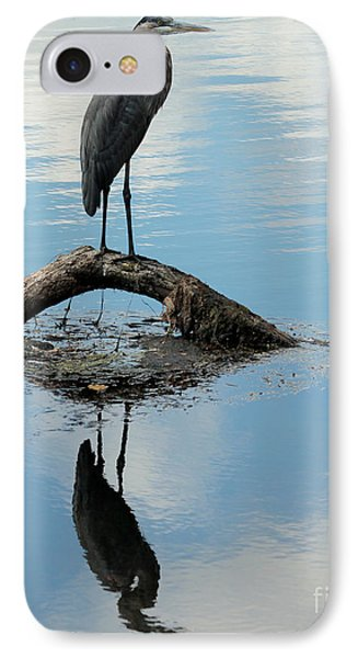 IPhone Case featuring the photograph Heron Reflection by Kenny Glotfelty