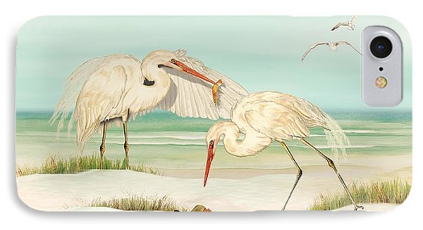 Herons Fishing IPhone Case by Anne Beverley-Stamps