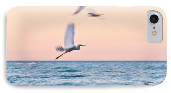Herons Flying Over The Sea  IPhone Case