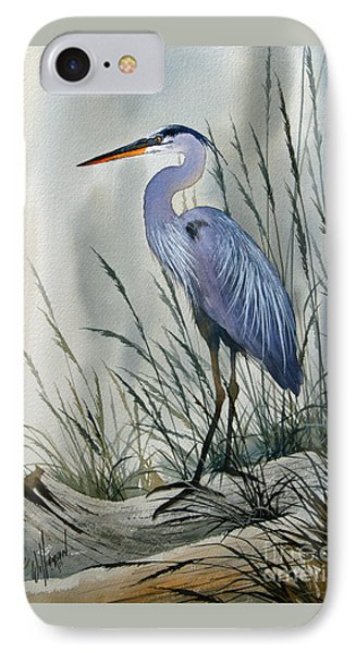 Heron iPhone 7 Case - Herons Sheltered Retreat by James Williamson
