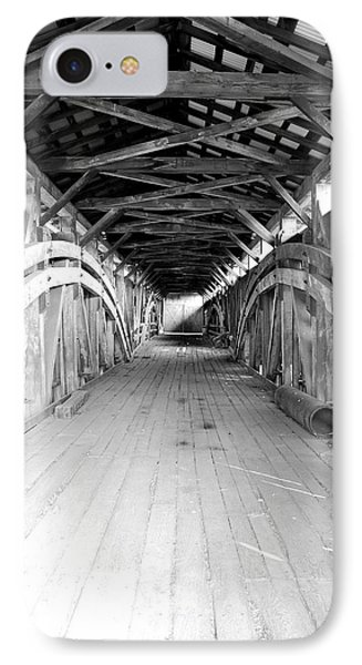 IPhone Case featuring the photograph Herr's Mill Covered Bridge by Mary Beth Landis