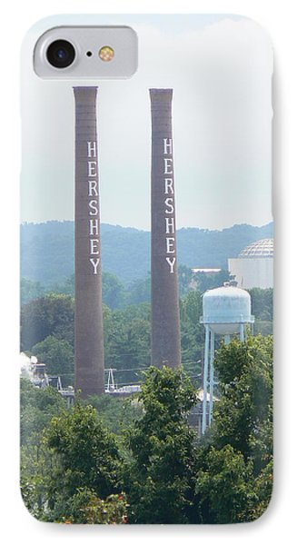 Hershey Smoke Stacks IPhone Case by Michael Porchik