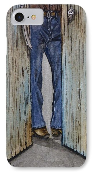 IPhone Case featuring the painting Blue Jeans Looking Good by Kelly Mills