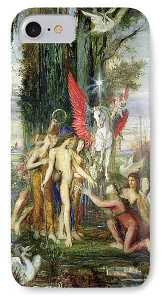 Hesiod And The Muses IPhone Case by Gustave Moreau
