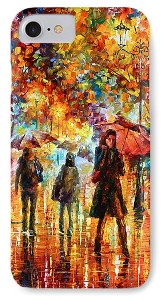 Hesitation Of The Rain Phone Case by Leonid Afremov