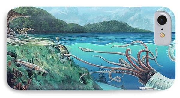 Heteromorph Ammonite Attack IPhone Case