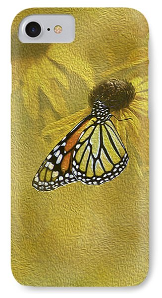 Hey Susan There Is That Butterfly Again Phone Case by Diane Schuster