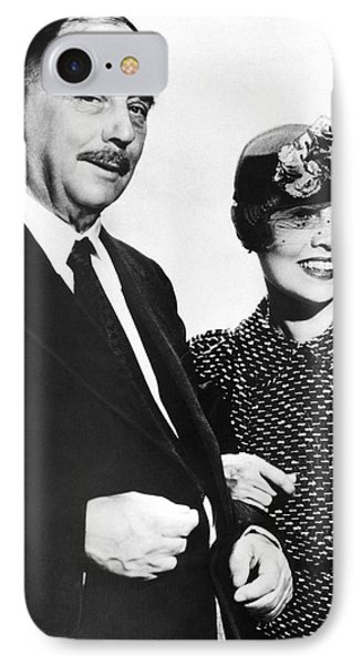 H.g. Wells And Anita Loos IPhone Case by Underwood Archives