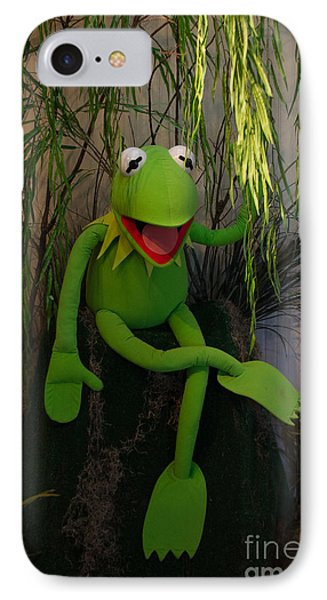 Hi Ho  Kermit The Frog Here  IPhone Case by Jim McCain